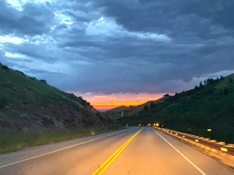 Up early driving at sunrise leaving the Bighorn National Forest in WY