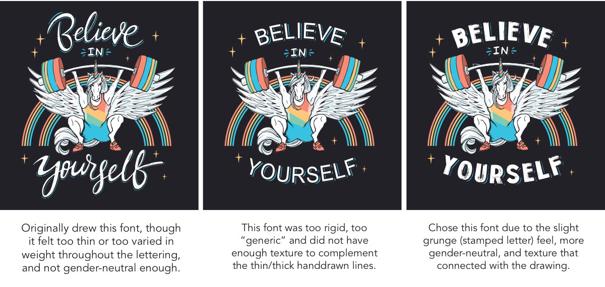 Choosing the Right Font Typeface for Your Design T-shirt