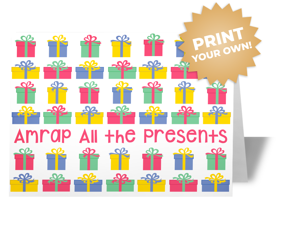 AMRAP The Presents Card
