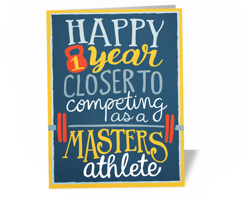 Fitness Greeting Card - Masters Athlete - by powersnowdesigns