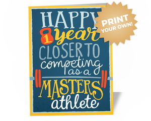 Fitness Birthday Greeting Card Athlete CrossFit