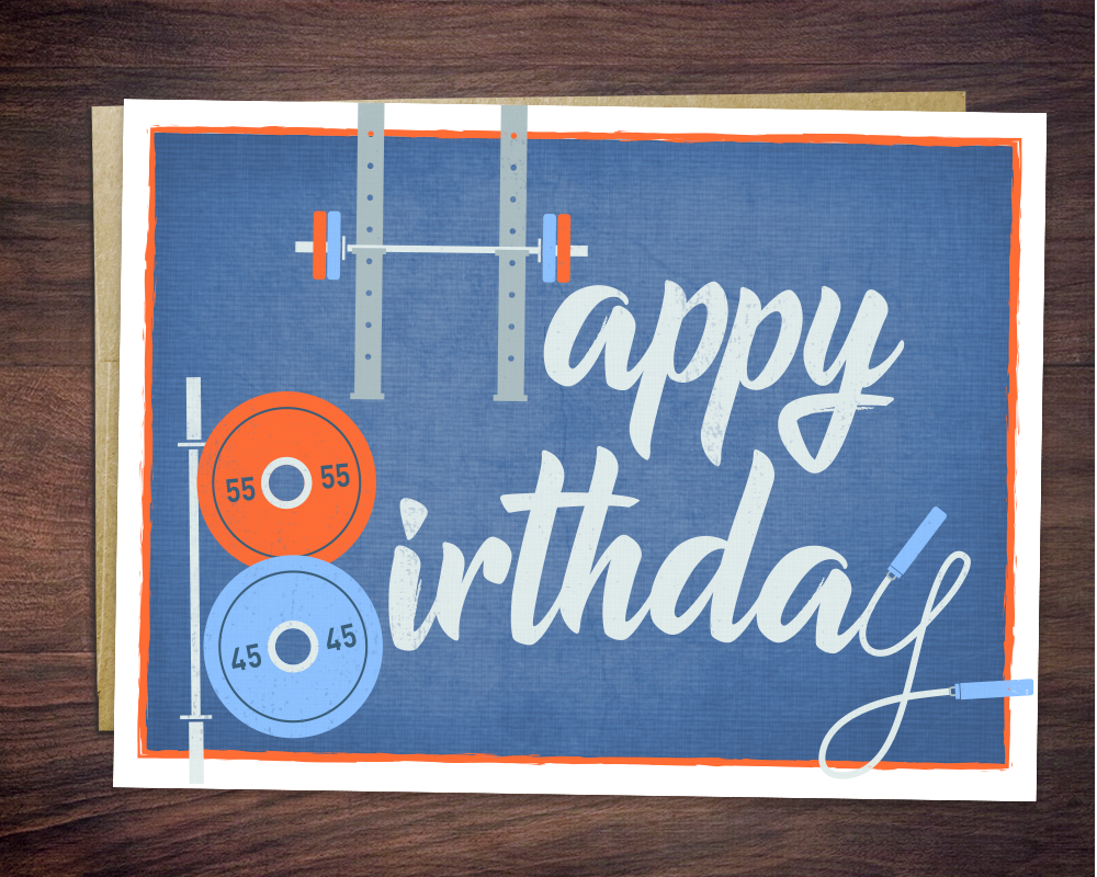 Swole Birthday Card for Gym Fitness Bodybuilders