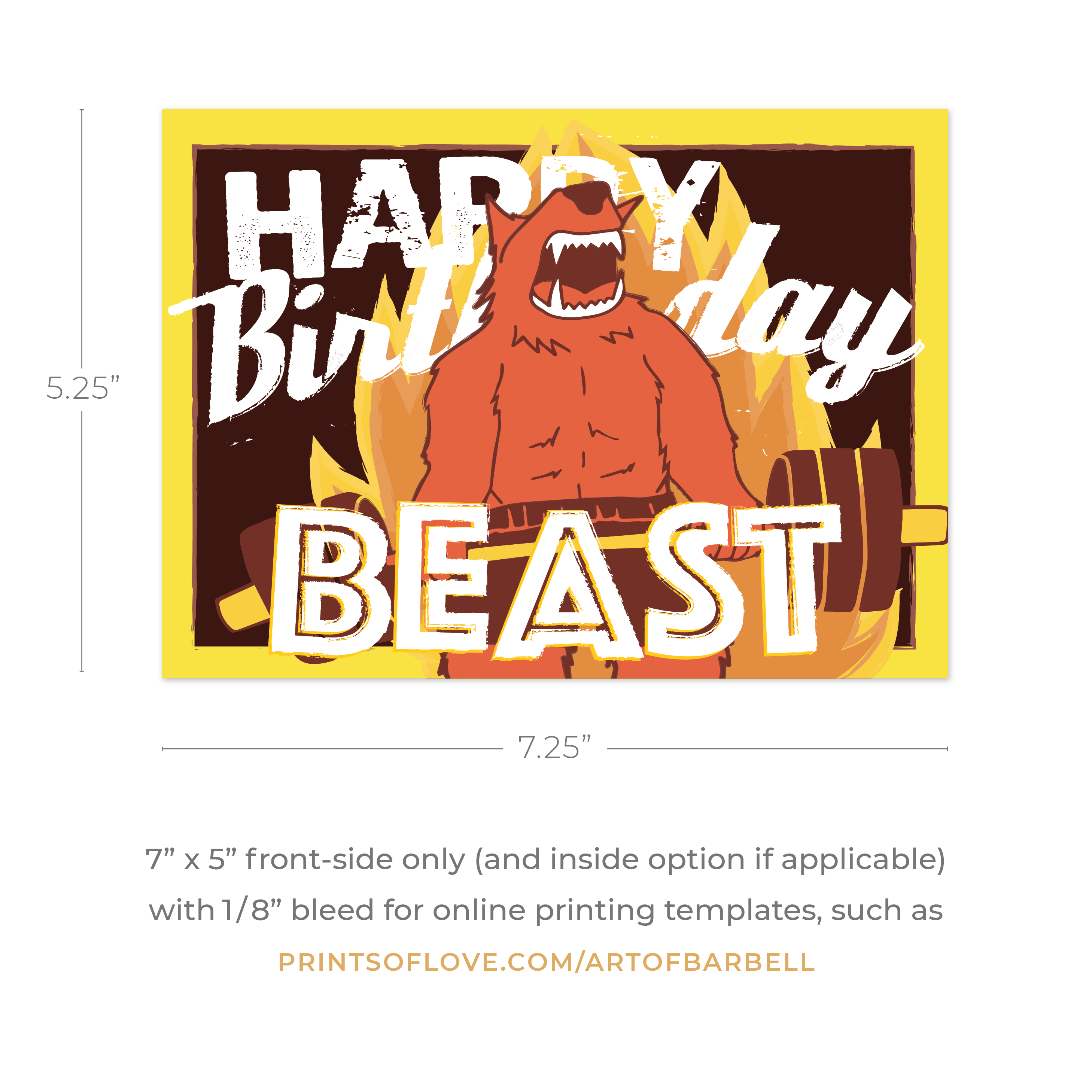 beast mode birthday card