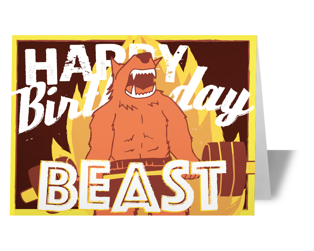 Birthday Card for People who CrossFit - Happy Birthday WOD Card