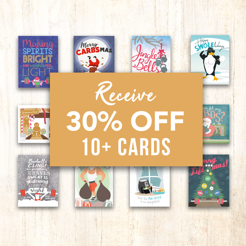 30% off 10 cards discount CrossFit Greeting Cards
