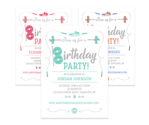 Athletic Birthday Invitation