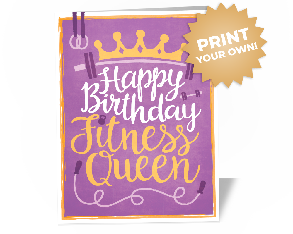 Fitness Swole Mate Coach Birthday Card