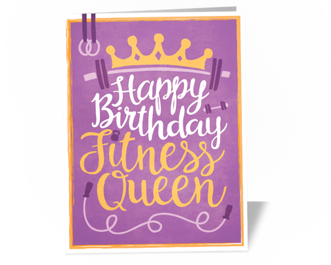 Fitness Queen Birthday Card
