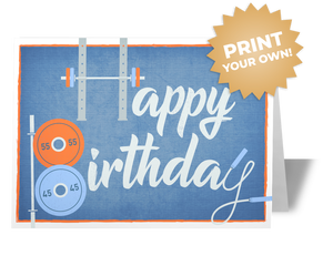 Fitness Birthday Card for Coaches Athletes