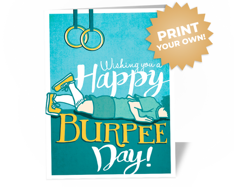 Happy Burpee Day Card