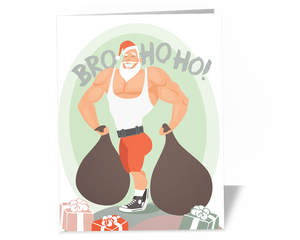 CrossFit Fitness Trainer Christmas Card - Do You Even Lift, Santa