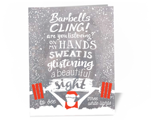 Chalking in a Winter Wonderland Weightlifters Holiday Card Gift Idea CrossFit Christmas Sweater