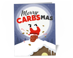 Merry Carbsmas Non Keto Christmas Card for Nutrition Coaches and Athletes