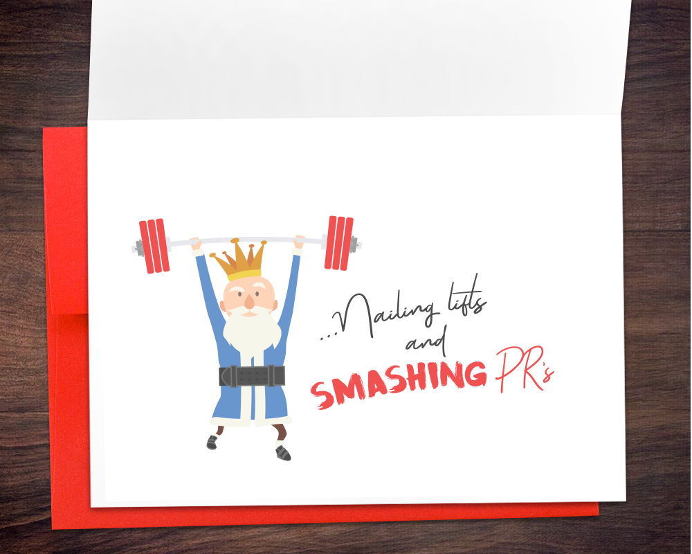 We Three Cleans Weightlifting Greeting Card by Art of Barbell @artofbarbell_
