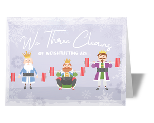 Weightlifting Christmas Card