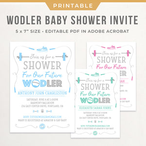 CrossFit Baby Shower Invitation Printable