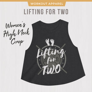 Lifting for Two Weightlifting Pregnant Mom Weightlifting CrossFit Shirt