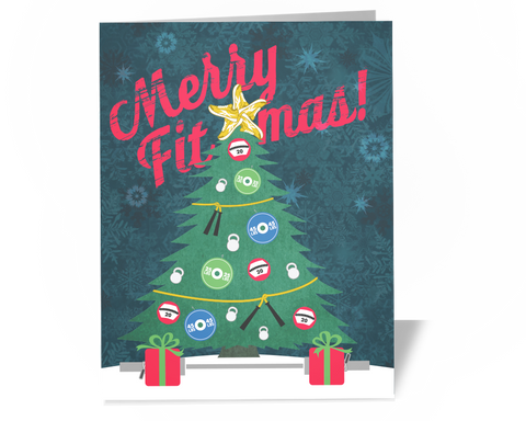 Crossfit Christmas Card - Merry Fitmas Tree