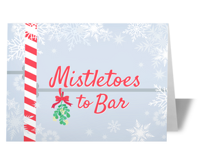 Mistletoes to Bar Holiday Christmas Greeting Card for CrossFit