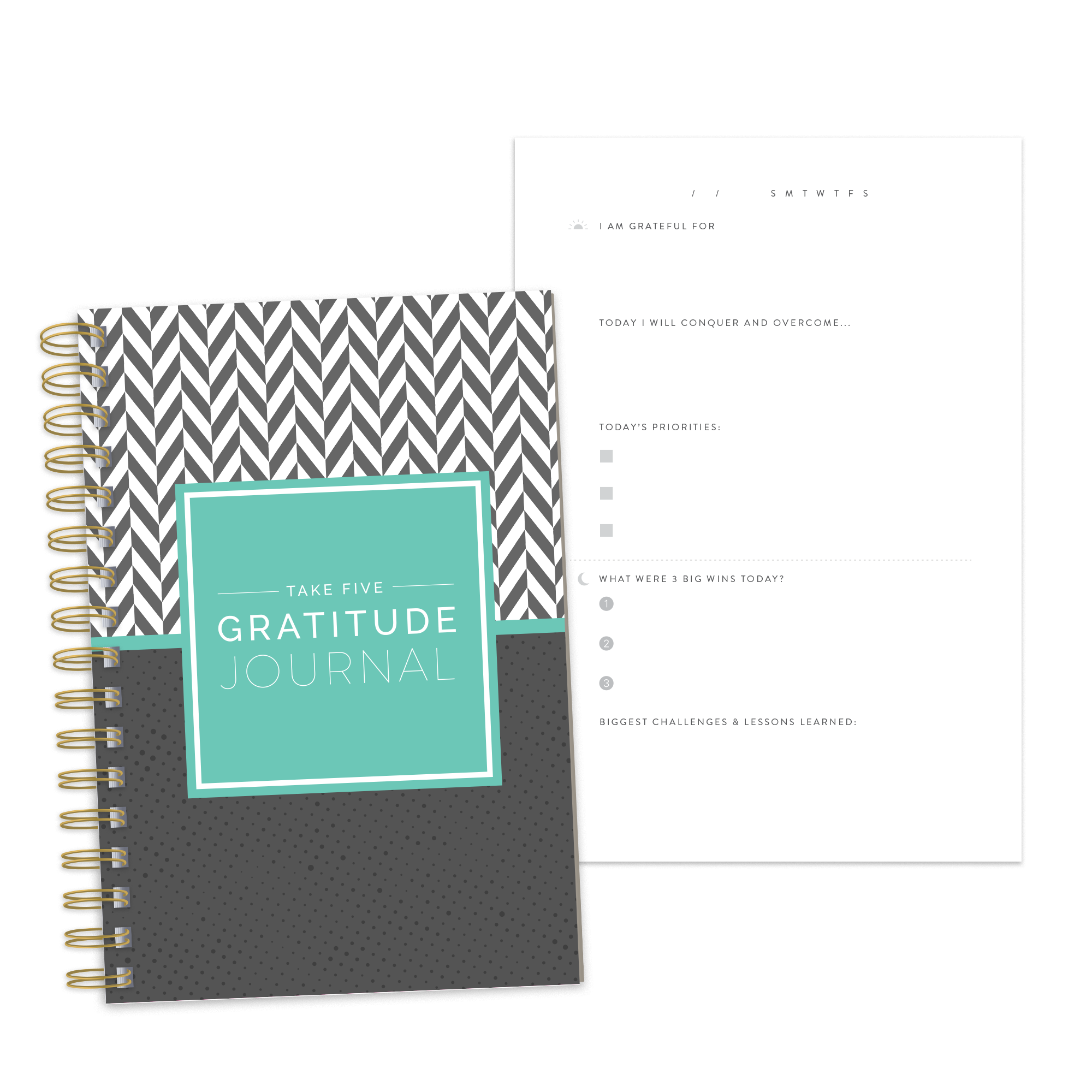Take Five Daily Gratitude Journal