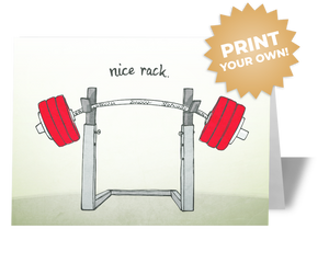 Nice Rack Funny CrossFit T-Shirt Card