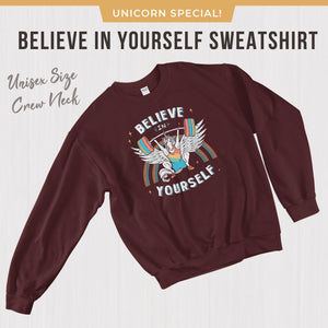 Believe in Yourself Weightlifting Sweatshirt Long Sleeve