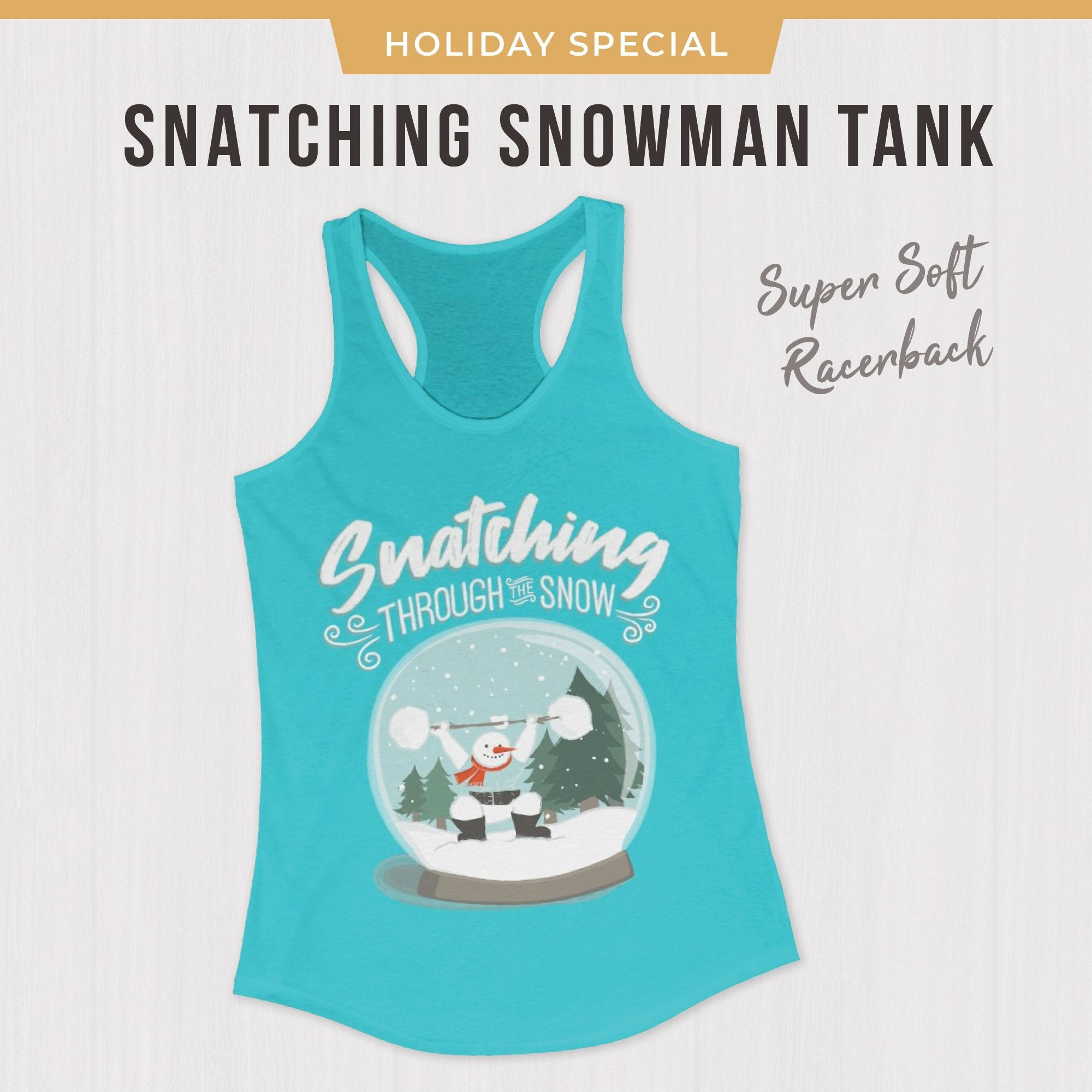 Snatching Christmas CrossFit weightlifting tank top Holiday Fitness