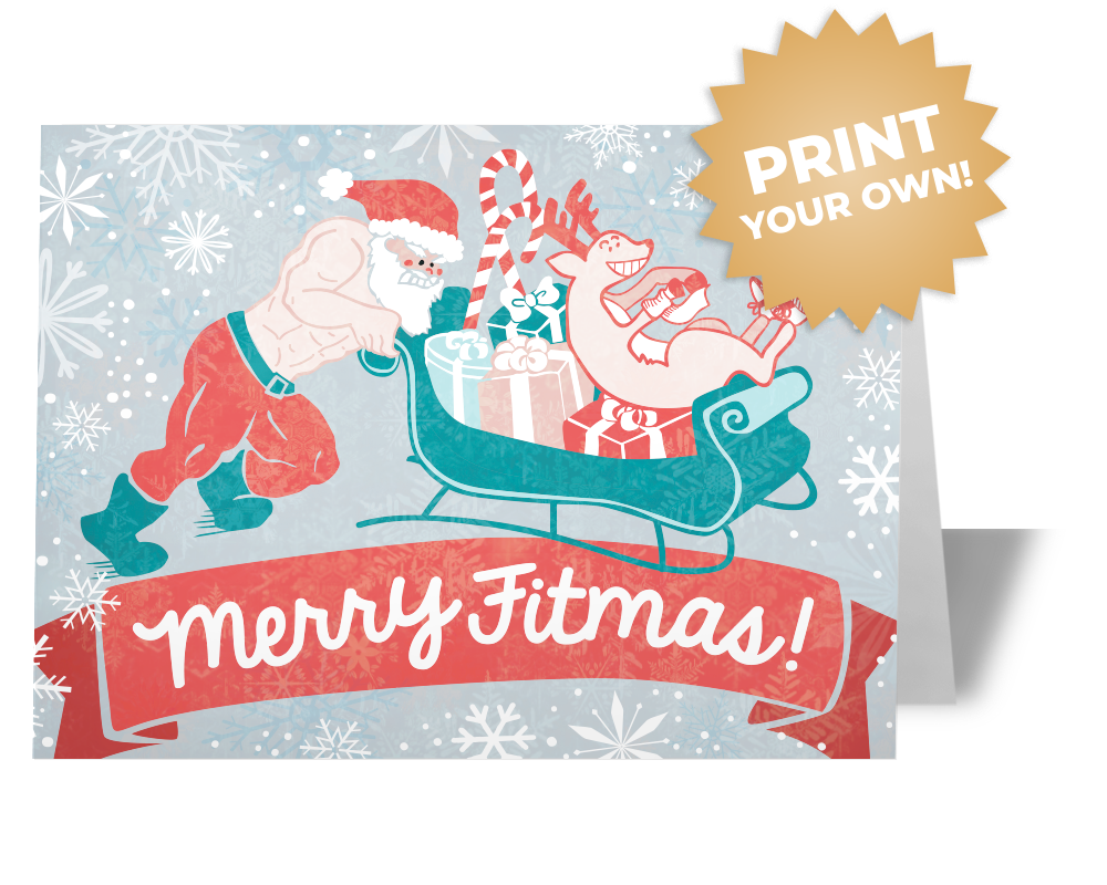 Santa Sled Push Card