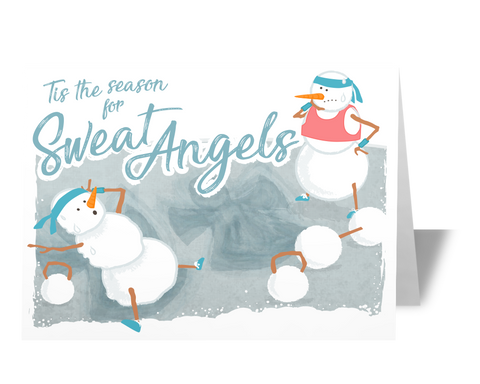Sweat Angels CrossFit Fitness Holiday Christmas Card