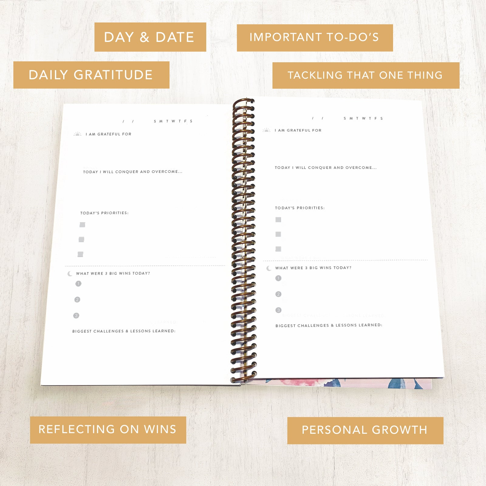 Gratitude Journal Pages Planner Daily Writing