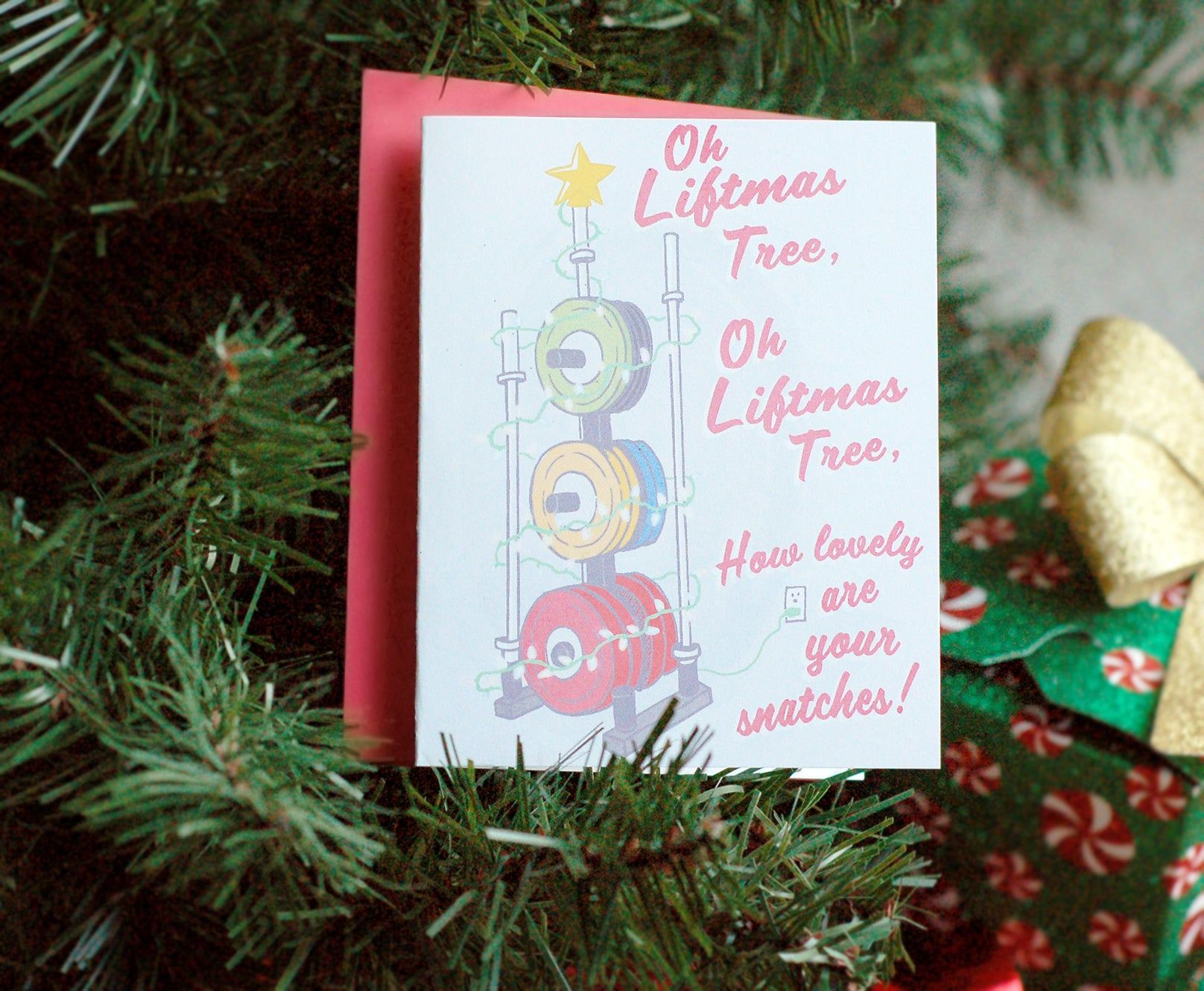 Oh Liftmas Tree Card