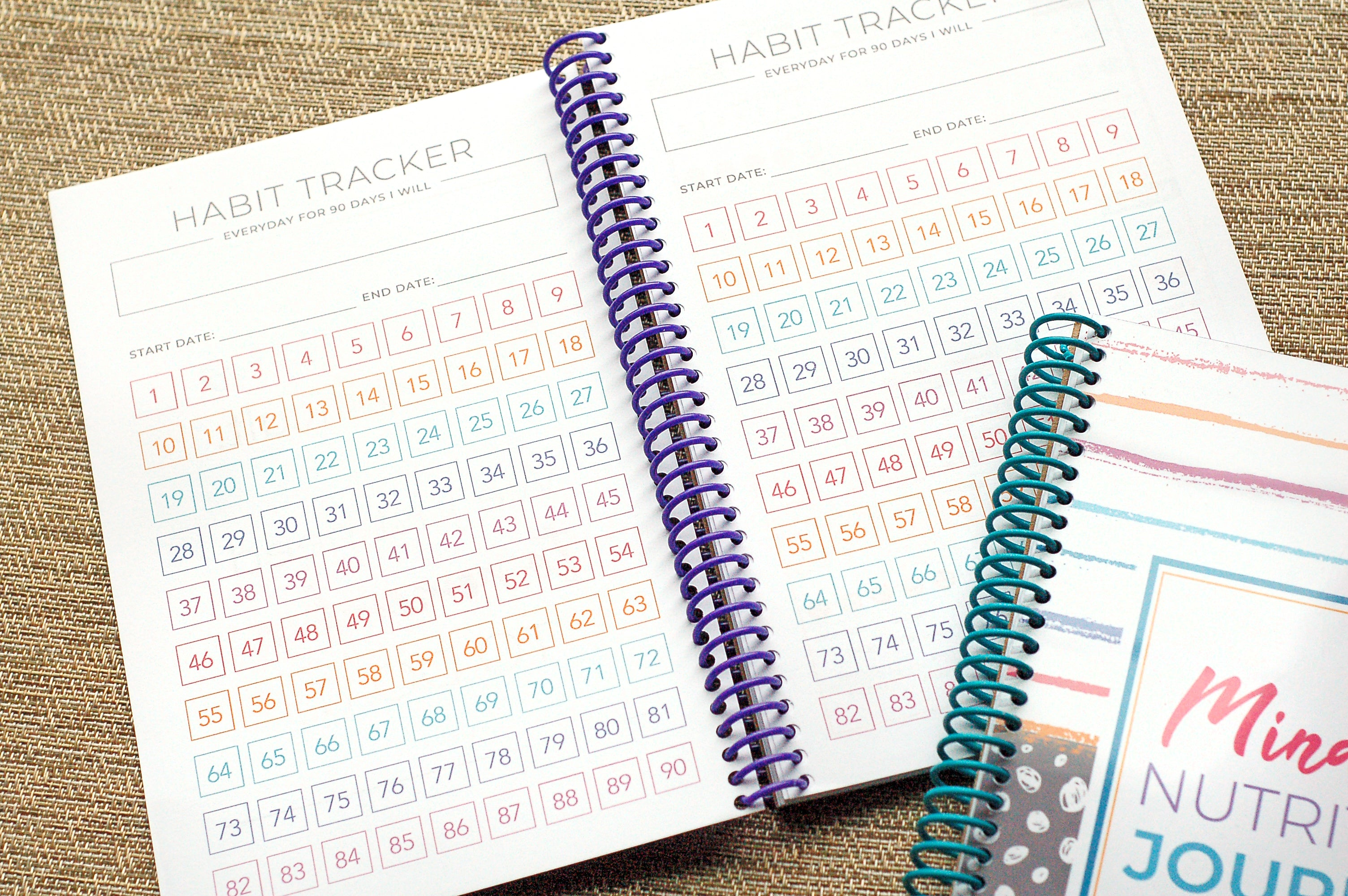Habit Tracking Mindful Eating Journal