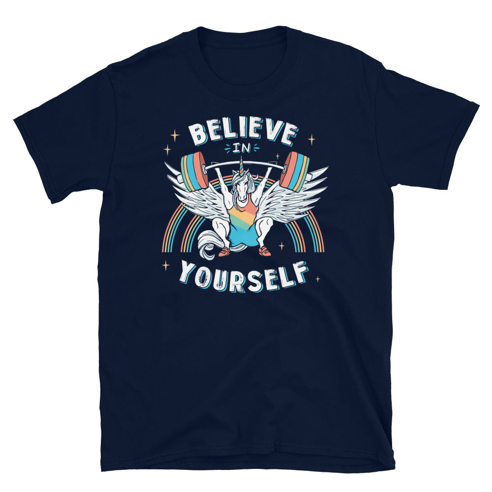 Snatch Weightlifting Mens Shirt Unicorn Believe