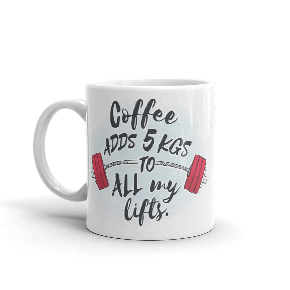 Lift a Latte & Coffee Adds 5kgs Mug