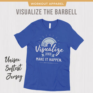 Visualization Focus Barbell CrossFit T-shirt