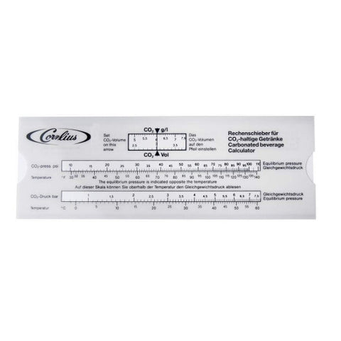 Slide Rule Carbonation Calculator TE-05