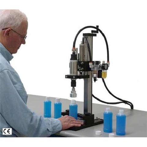 Cap tightener - pneumatic bench-top CA-06