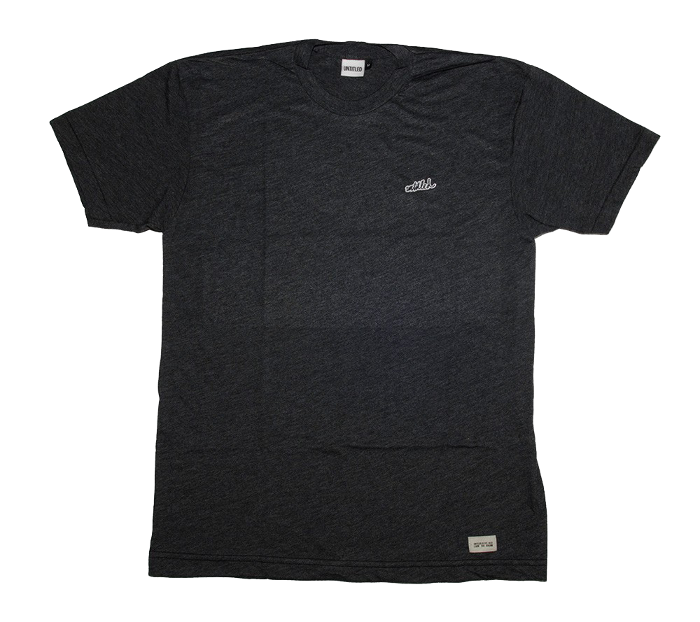 Heather Black Patch Tee