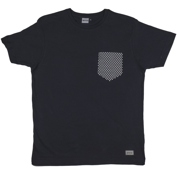 All-Over Wave Pocket Tee Dark Navy