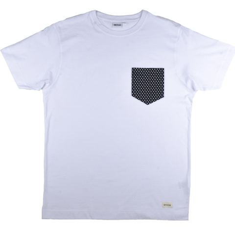 All-Over Wave Pocket Tee White