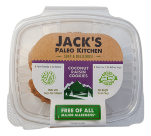 Jack's Paleo Kitchen - Soft Baked Cookies - Cinnamon Raisin - 12/pk