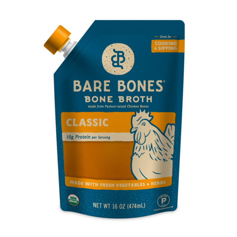 Bare Bones - Bone Broth - Classic Chicken - 16 oz