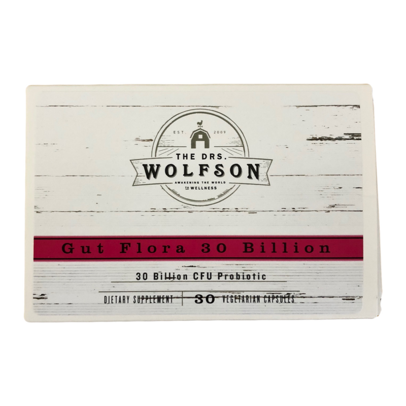 Dr. Wolfson - Gut Flora 30 Billion CFU Probiotic - 30 ct