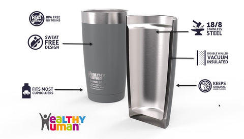 Healthy Human - 20 oz Vacuum Insulated Cruiser Tumblers