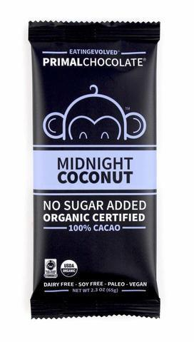 Eating Evolved - Organic Primal Chocolate Bars - Midnight Coconut - 2.5 oz