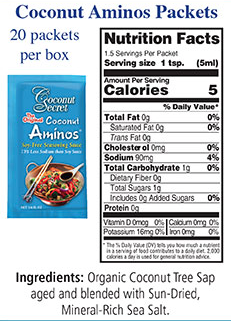 Coconut Secret - Organic Coconut Aminos - Take-Out Packets - 20 ct