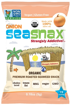 Seasnax - Organic Seaweed Snack - Onion - .18 oz