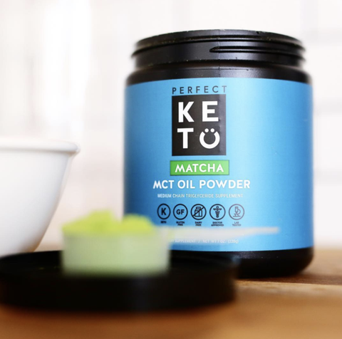 Perfect Keto - Matcha Latte with MCT Oil Powder - 7 oz
