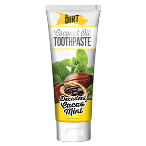 Dirt - Coconut Oil Toothpaste - Decadent Cacao Mint - 72 g