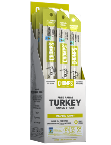 Chomps - Snack Sticks - Jalapeno Turkey